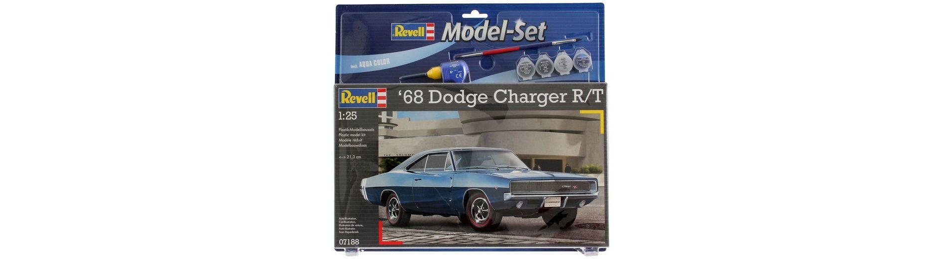 Revell® Modellbausatz Auto mit Zubehör, Maßstab 1:25, »Model Set - 1968 Dodge Charger«