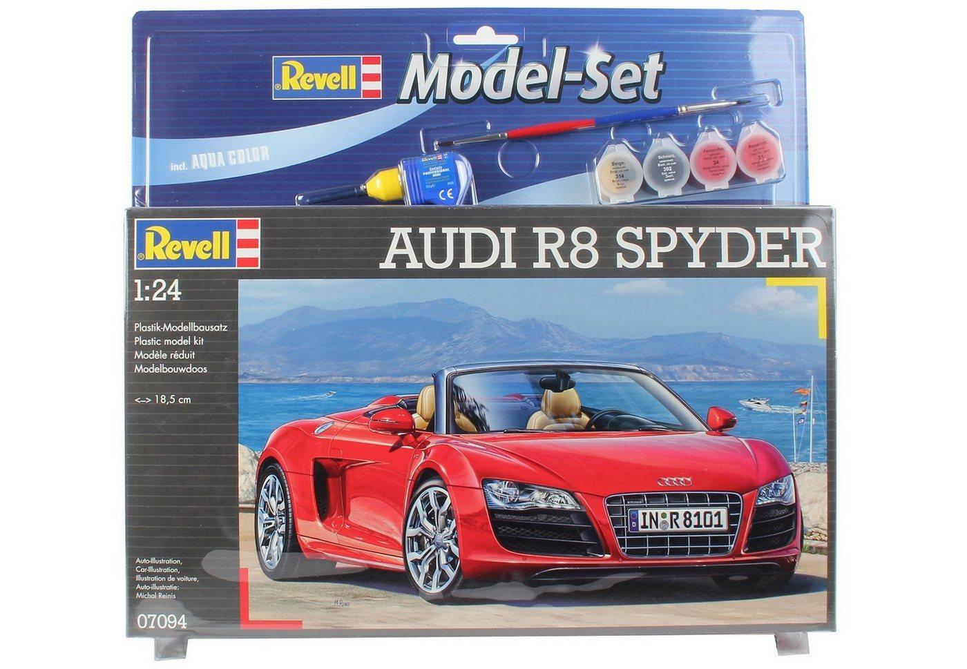 Revell® Modellbausatz Auto mit Zubehör, Maßstab 1:24, »Model Set - Audi R8 Spyder«