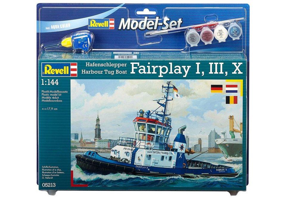 Revell® Modellbausatz Schiff mit Zubehör, Maßstab 1:144, »Harbour Tug Boat Fairplay« in bunt