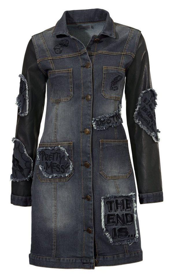 Jeansjacke in schwarz