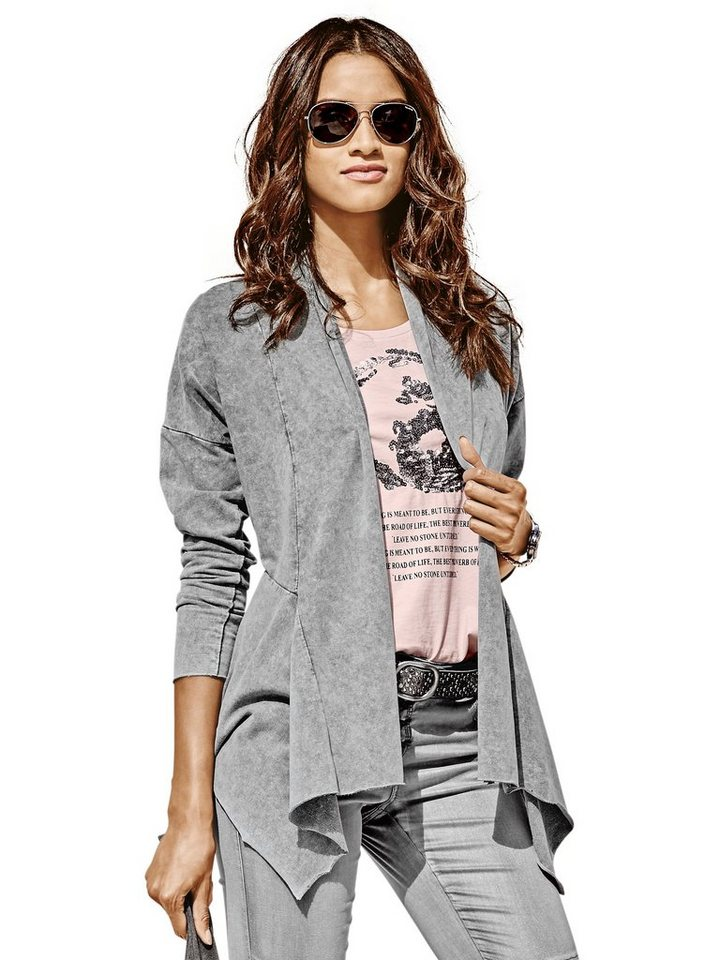 Shirtjacke in grau