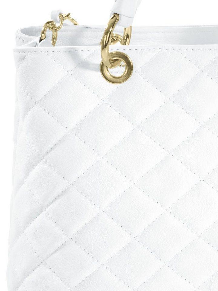 COLLEZIONE ALESSANDRO Tasche mit Steppung in weiß