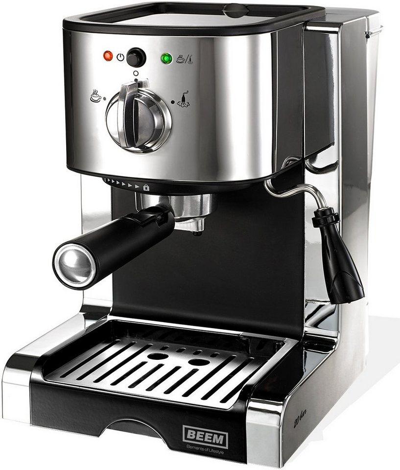 BEEM Espressomaschine Siebträger Espresso Perfect Ultimate 20 Bar, 1470 Watt in schwarz/chrom