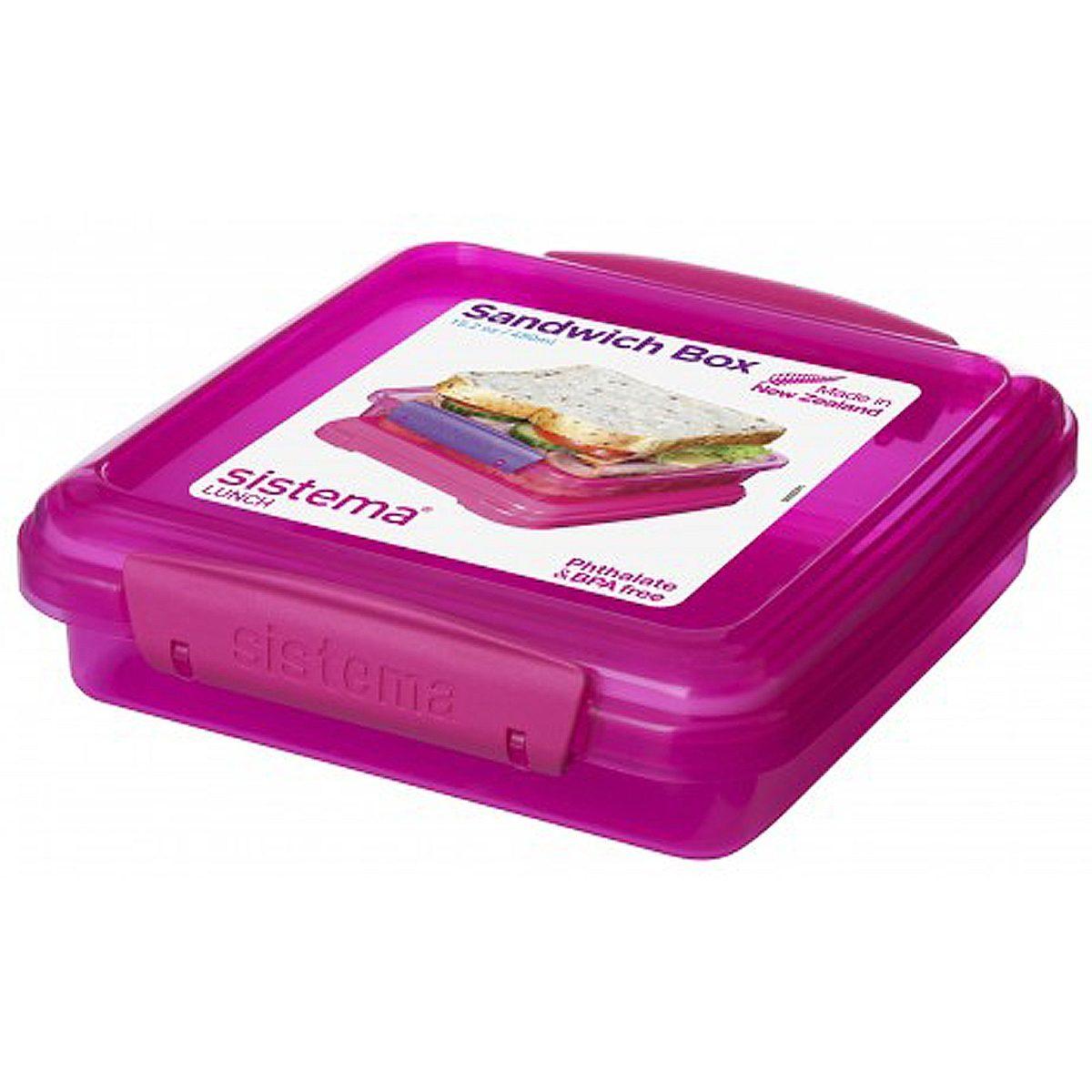 sistema sistema Sandwich-Box 2er Set, pink, blau