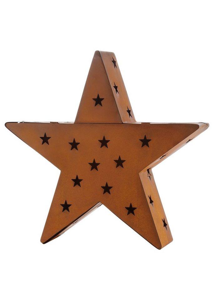 Windlicht, »Stern« in braun