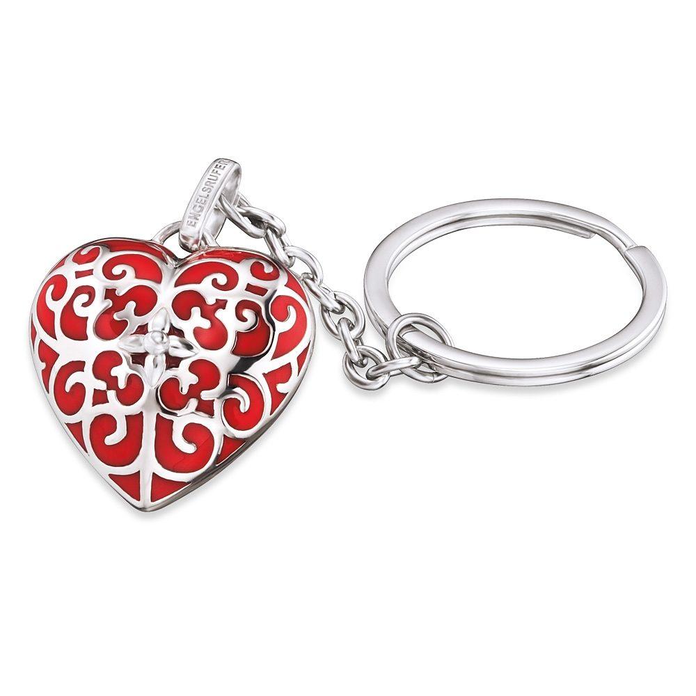 Engelsrufer Schlüsselanhänger »With love, SCHLÜSSELANHÄNGER ENGELSRUFER HERZ ROT, ERK-05-HEART«