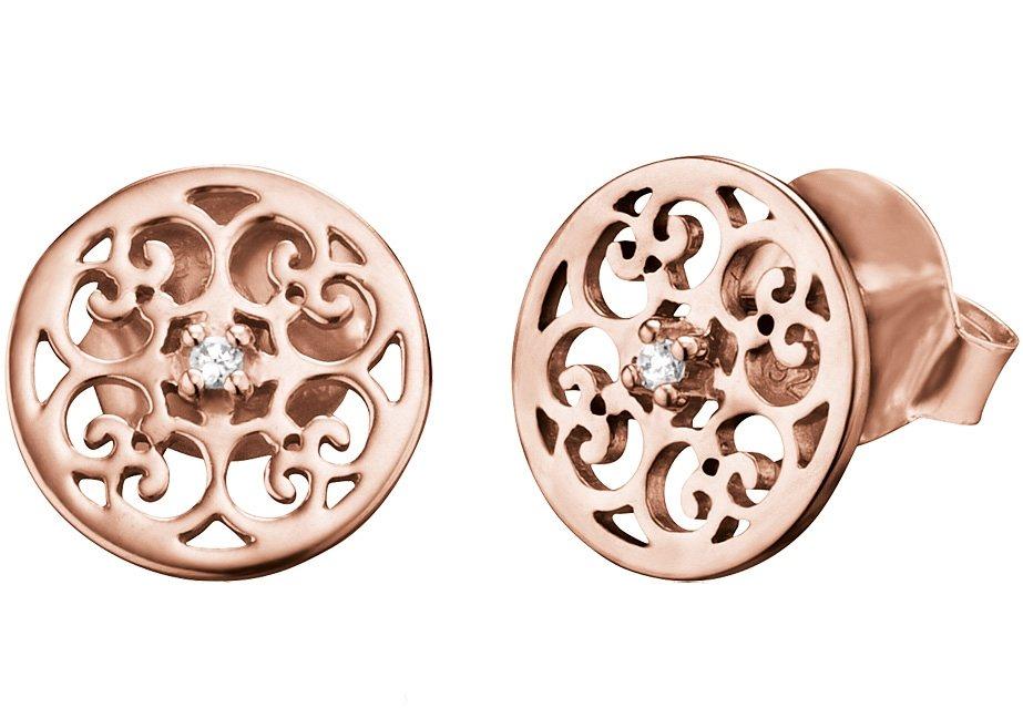 Engelsrufer Paar Ohrstecker, »Ornament, ERE-ORNA-Zl-STR« in Silber 925/roségoldfarben