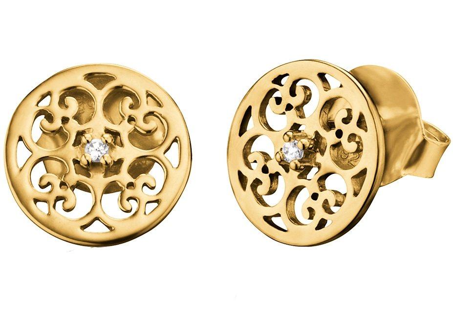 Engelsrufer Paar Ohrstecker, »Ornament, ERE-ORNA-Zl-STG« in Silber 925/goldfarben