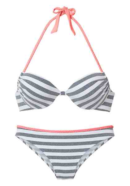 Venice Beach Push-up-Bikini mit Flecht-Detail