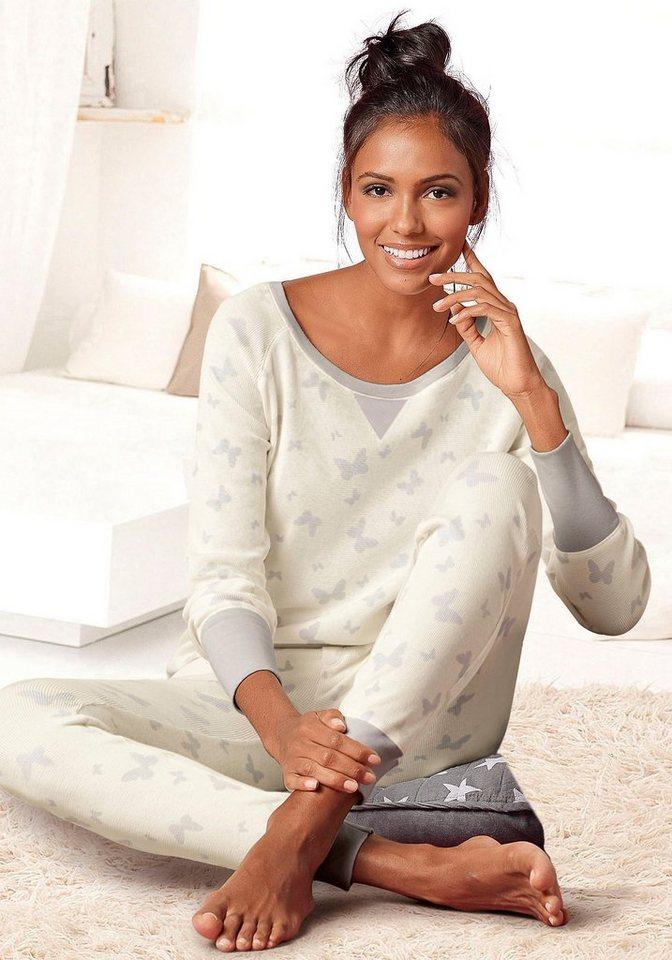 vivance dreams moderner pyjama mit alloverprint otto. Black Bedroom Furniture Sets. Home Design Ideas