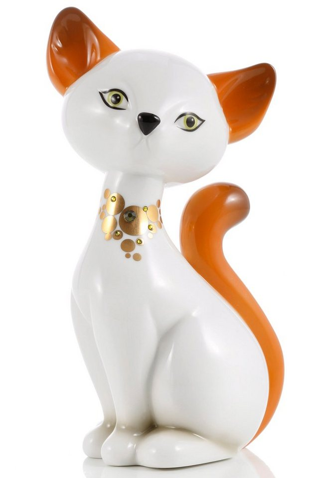 Goebel Sammlerfigur, »Turkish Van Kitty« in weiß, goldfarben
