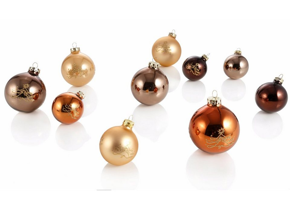 Th ringer glasdesign set tgs weihnachtskugeln cappuccino 30tlg online kaufen otto - Weihnachtskugeln cappuccino ...