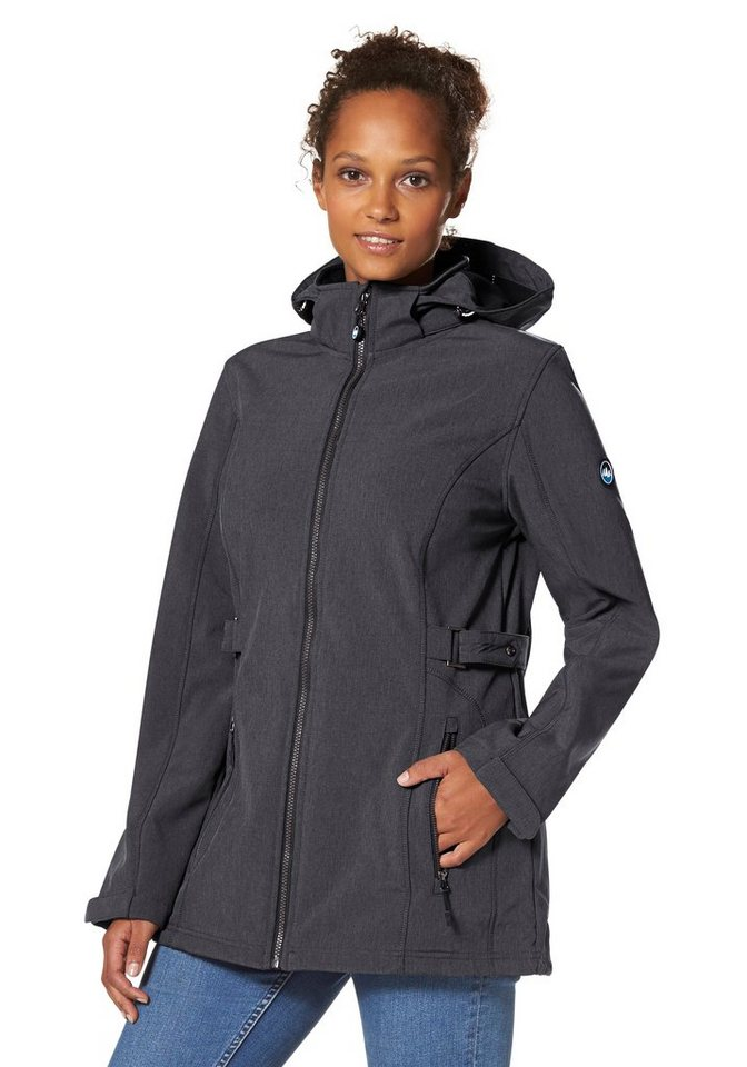 Polarino Softshelljacke in anthrazit-meliert