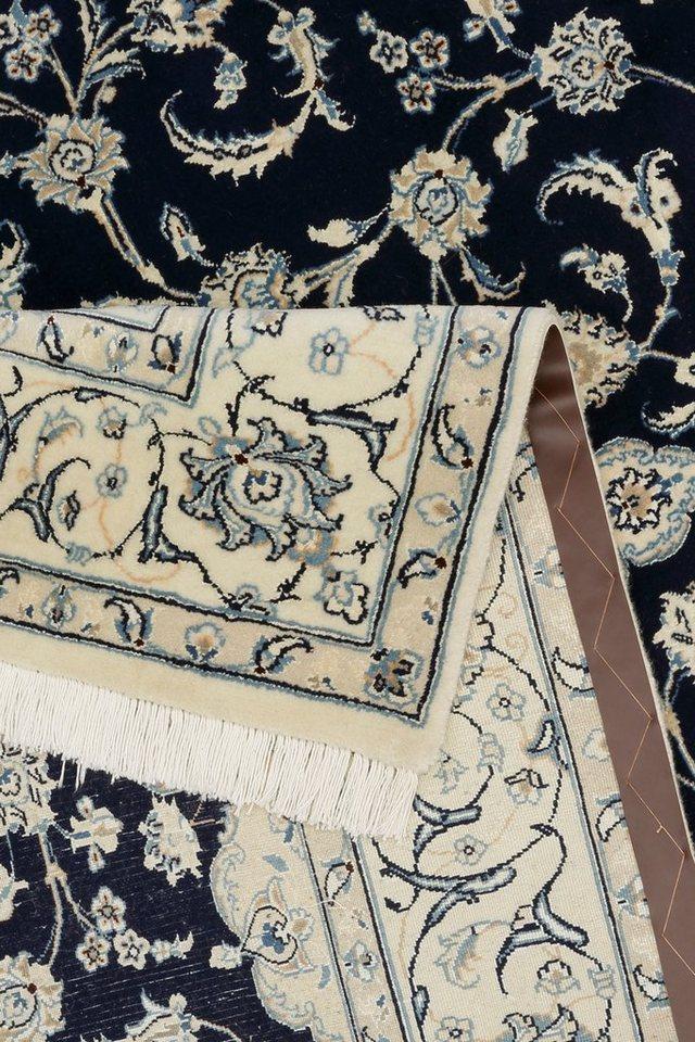 Orient-Teppich »Nain Scherkat Royal1«, handgeknüpft, 450.000 Knoten/m², mit Seidenanteil