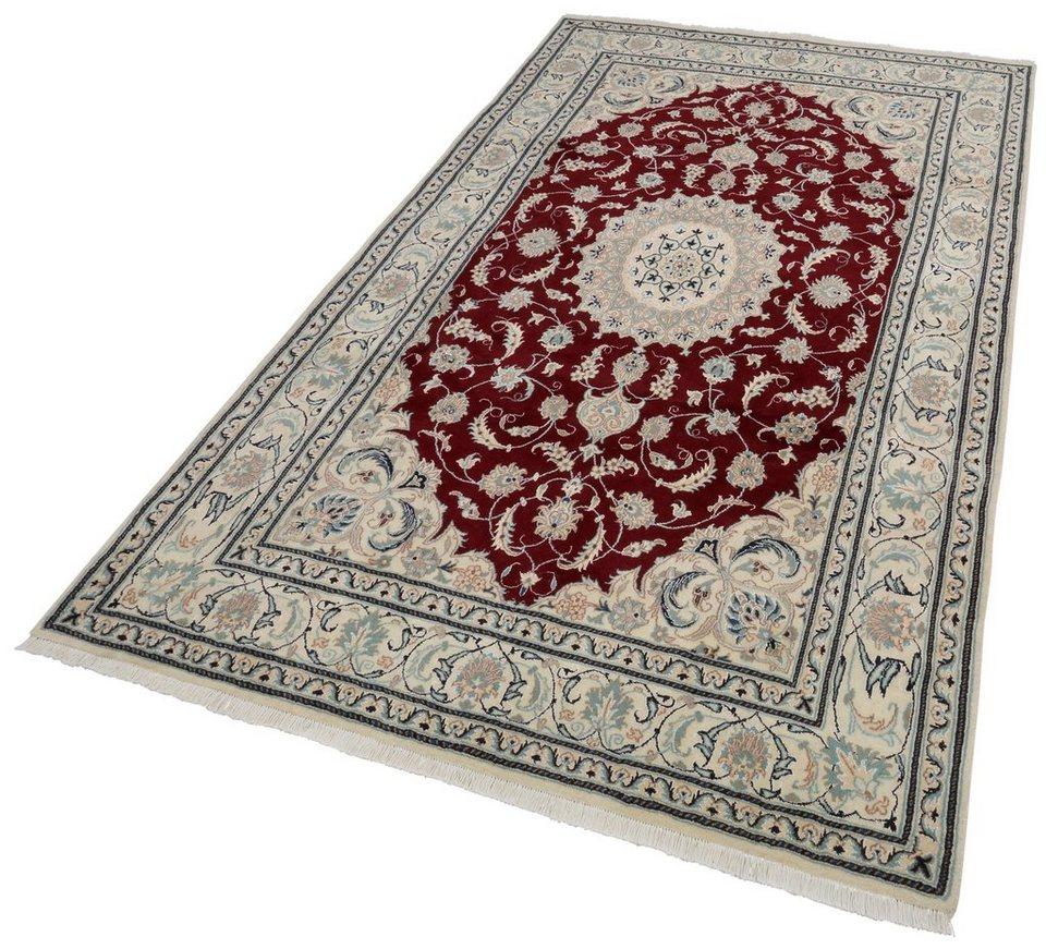 Orient-Teppich, Parwis, »Nain Khorasan2«, 180 000 Knoten/m², handgeknüpft, Unikat in rot