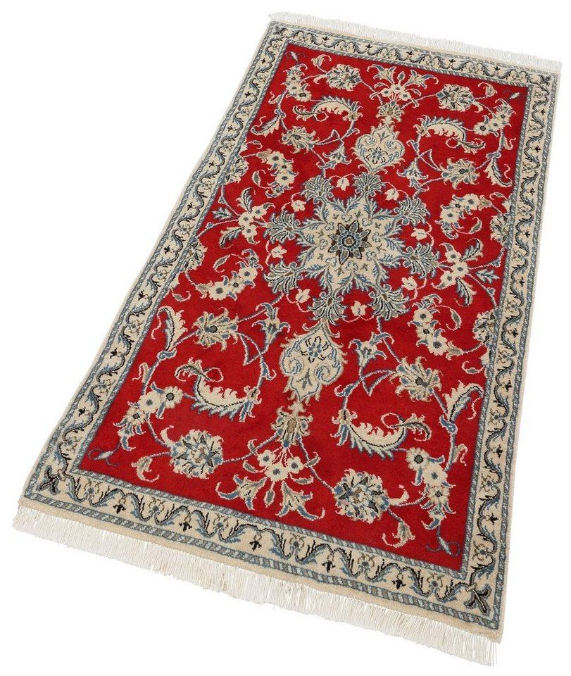 Orient-Teppich, Parwis, »Nain Khorasan1«, 180 000 Knoten/m², handgeknüpft, Unikat in rot