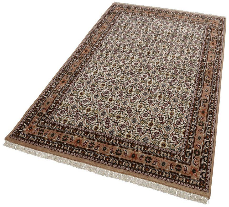 Unikat-Teppich, Parwis, »Matura Herati«, 139 000 Knoten/m², handgeknüpft, Wolle in creme