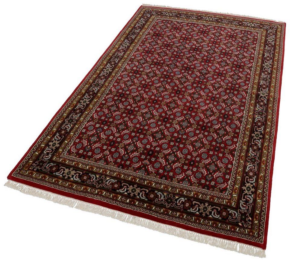 Unikat-Teppich, Parwis, »Matura Herati«, 139 000 Knoten/m², handgeknüpft, Wolle in rot
