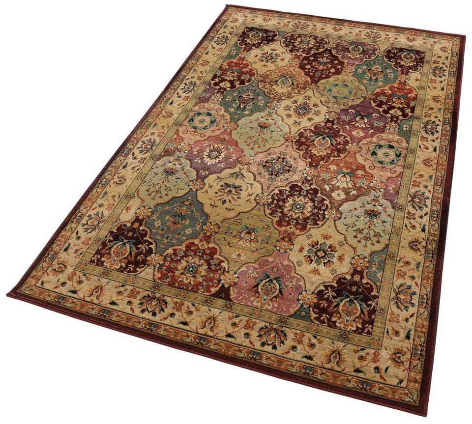 Orient-Teppich, Theko, »Moritz«, Melange-Effekt, gewebt in rot