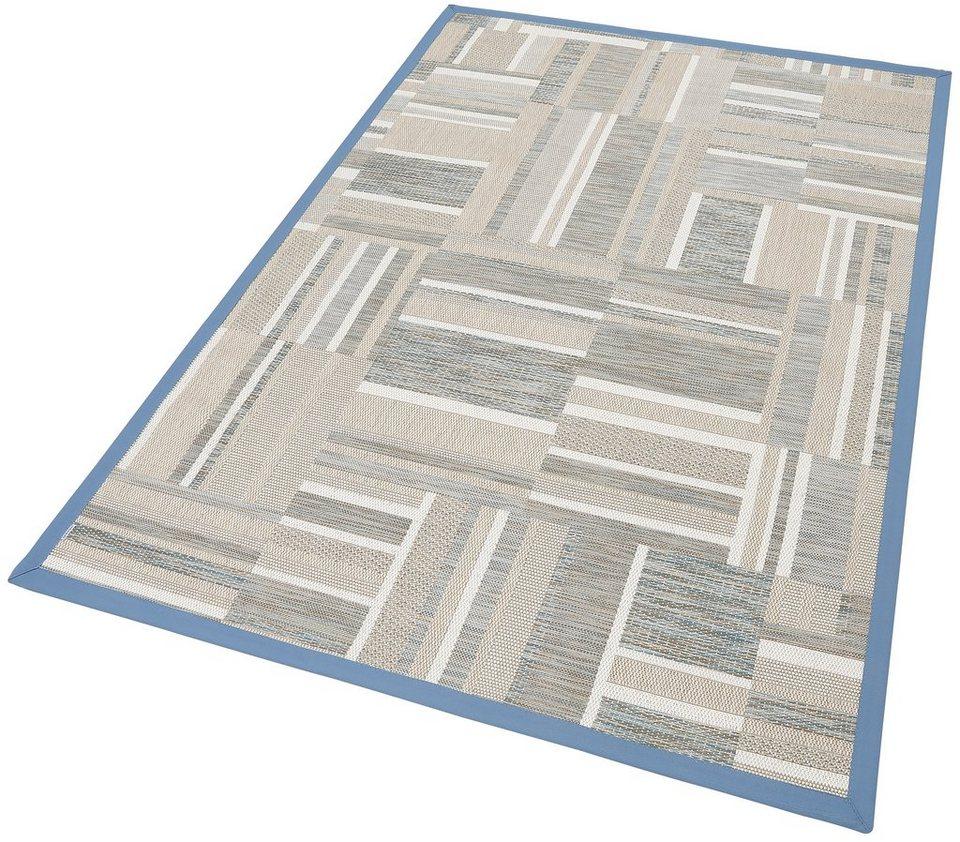 Teppich, »Patchwork«, Sisaloptik, Wunschmaß, Dekowe in blau