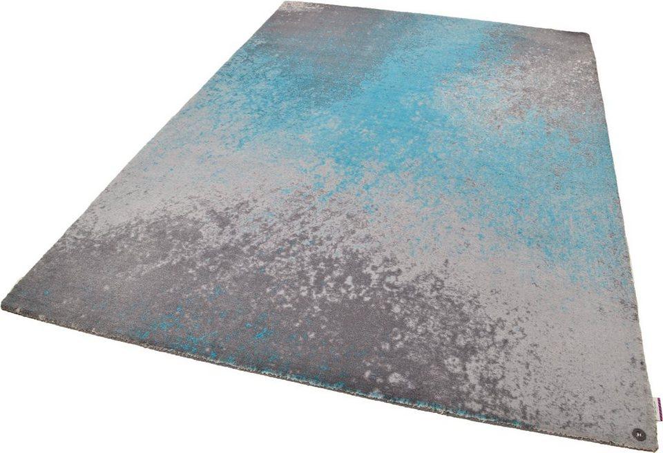 Teppich, Tom Tailor, »Happy Color Splash«, handgearbeitet in türkis