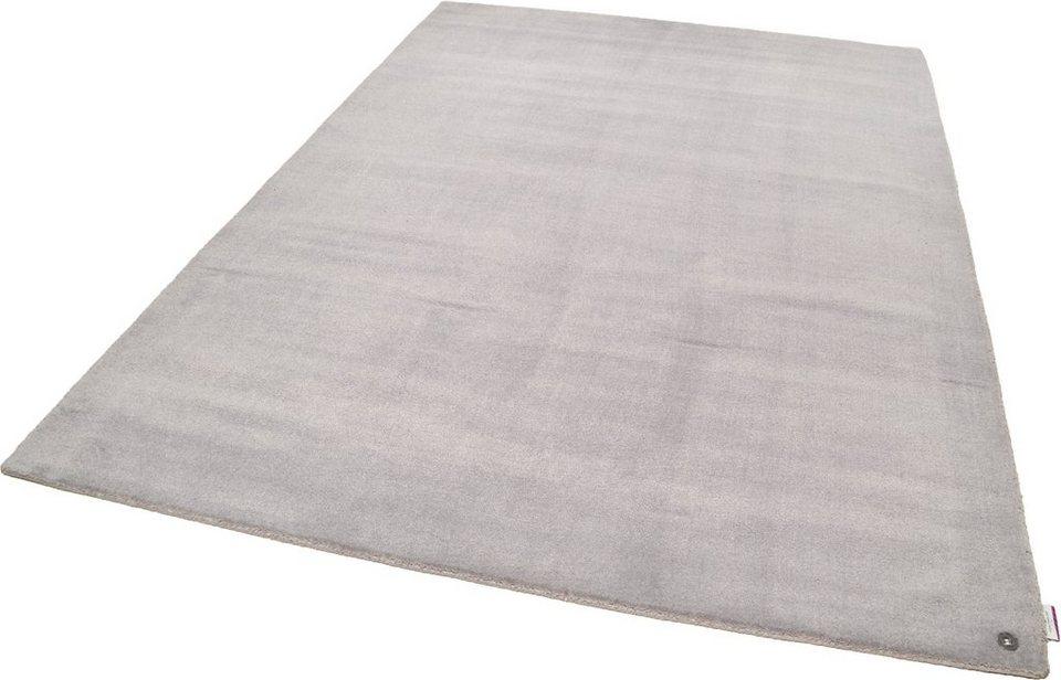Teppich, Tom Tailor, »Happy Solid«, handgearbeitet in grau