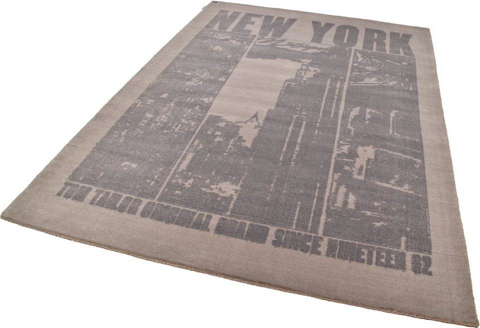 Teppich, Tom Tailor, »Happy New York«, handgearbeitet in braun