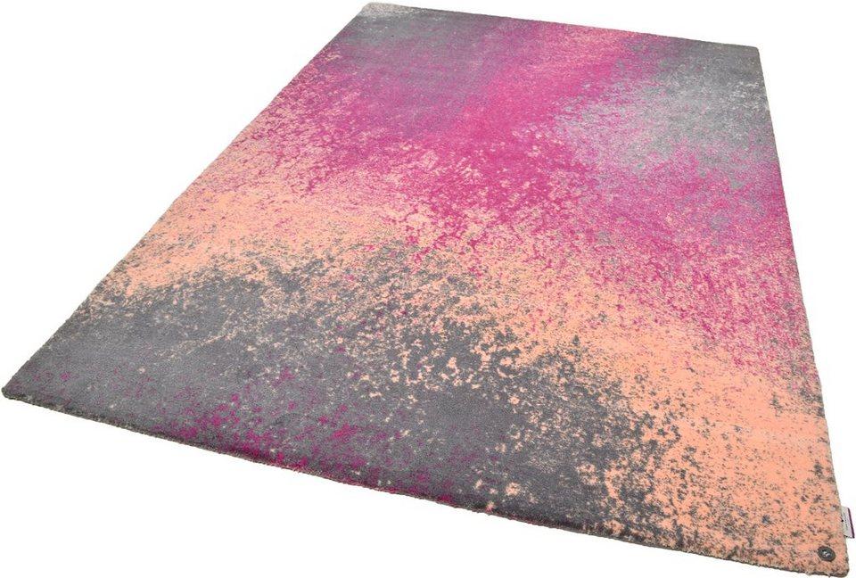 Teppich, Tom Tailor, »Happy Color Splash«, handgearbeitet in pink