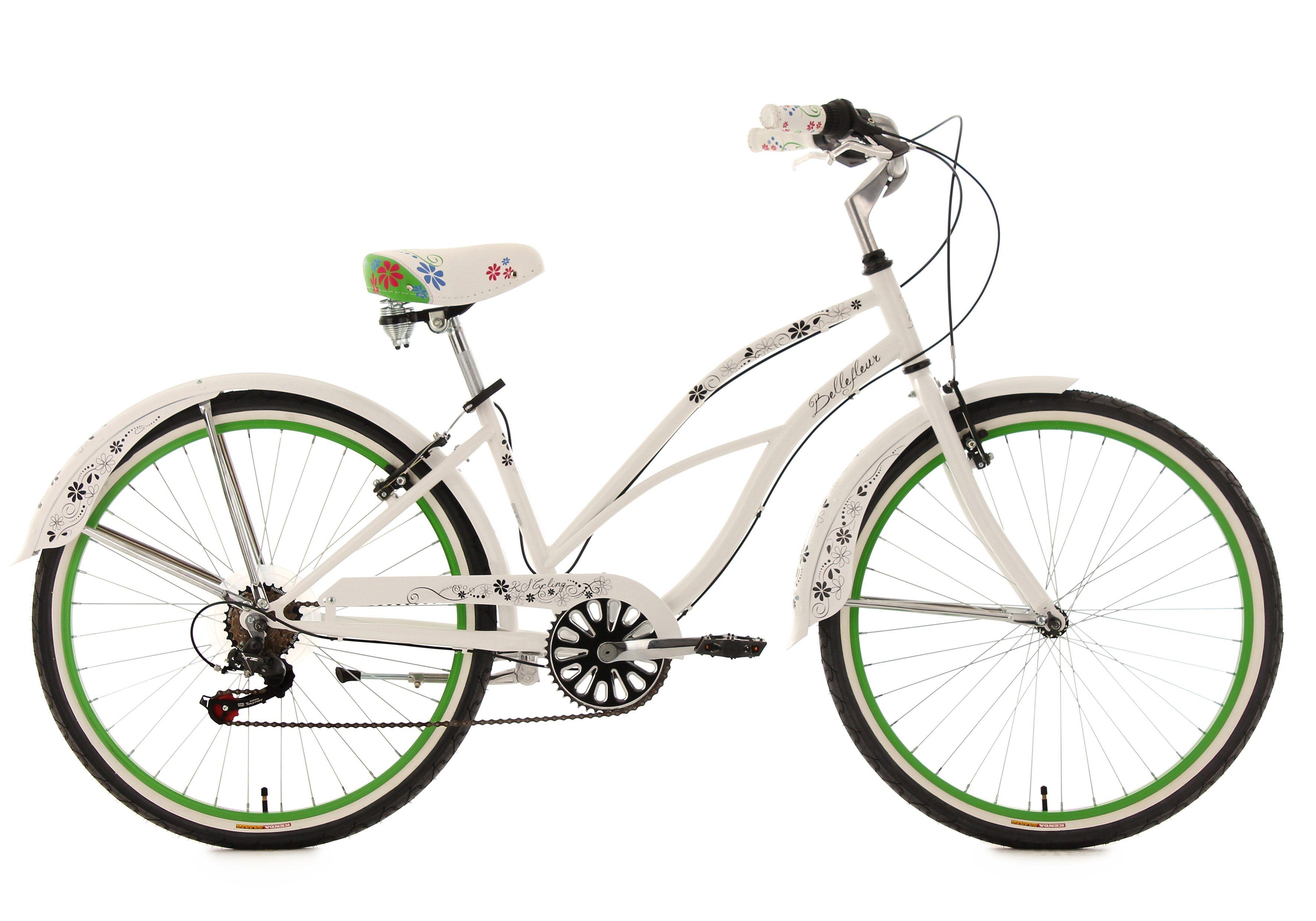 KS Cycling Cruiser »Bellefleur«, 6 Gang Shimano Tourney SIS Schaltwerk, Kettenschaltung