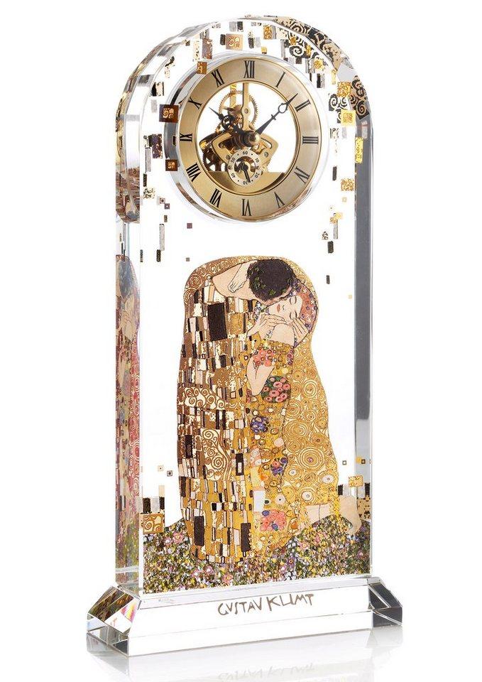 Goebel Goebel Tischuhr, »Der Kuss« in klarglas mit Echtgold