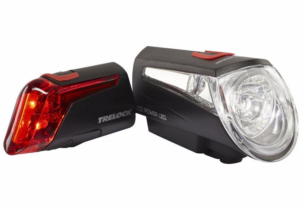Trelock Fahrradbeleuchtung »LS 450/320 Beleuchtungsset schwarz«