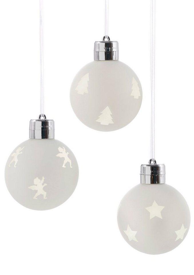 LED-Glaskugel (3tlg.) in weiß