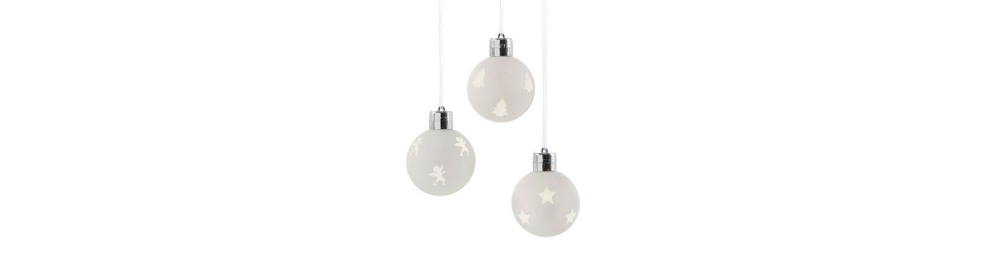 LED-Glaskugel (3tlg.)