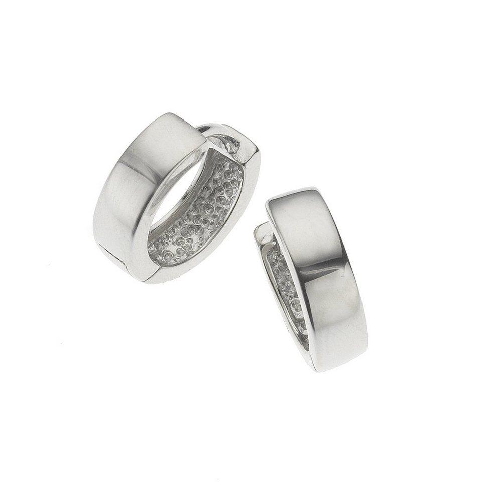 Zeeme Creolen »925/- Sterling Silber 13mm Durchmesser« in weiß