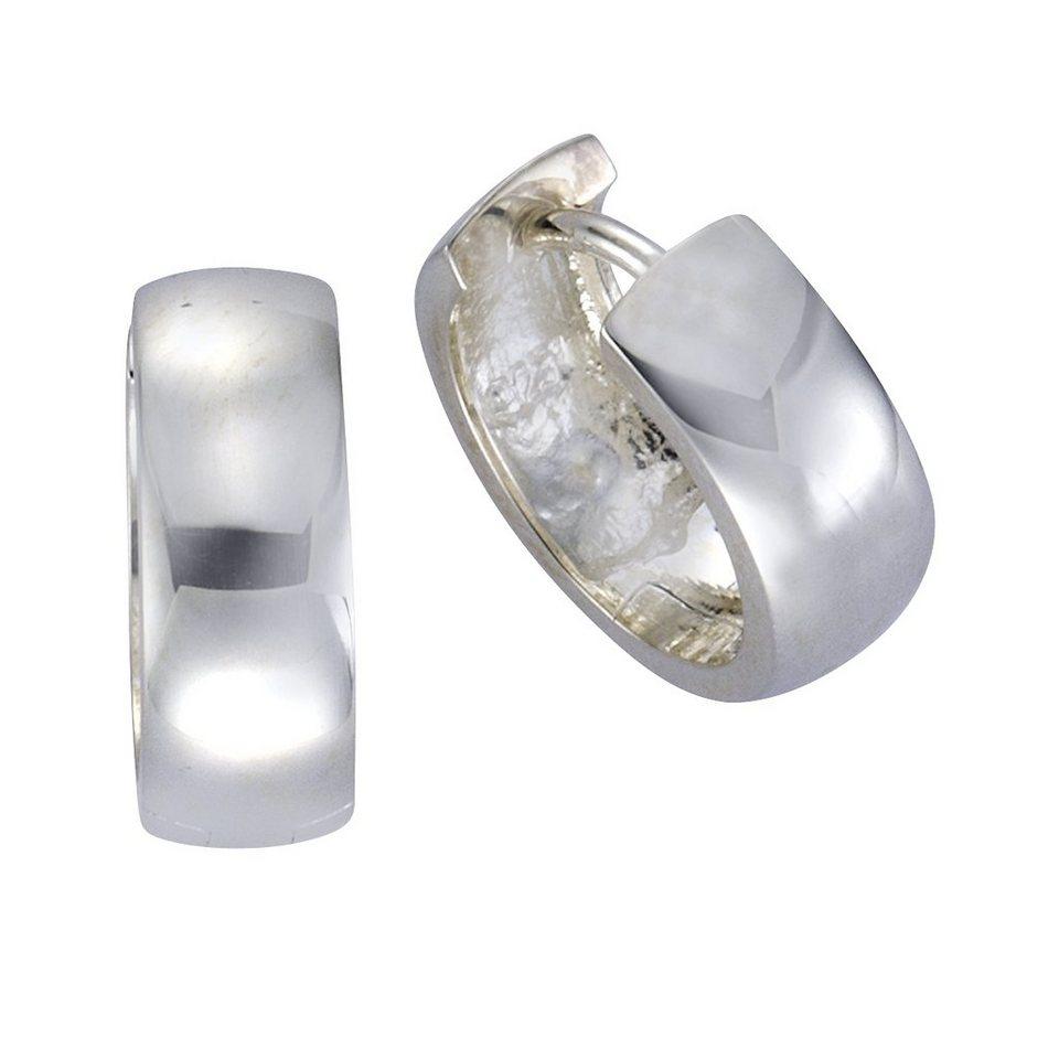 Zeeme Creolen »925/- Sterling Silber 16mm Durchmesser« in weiß
