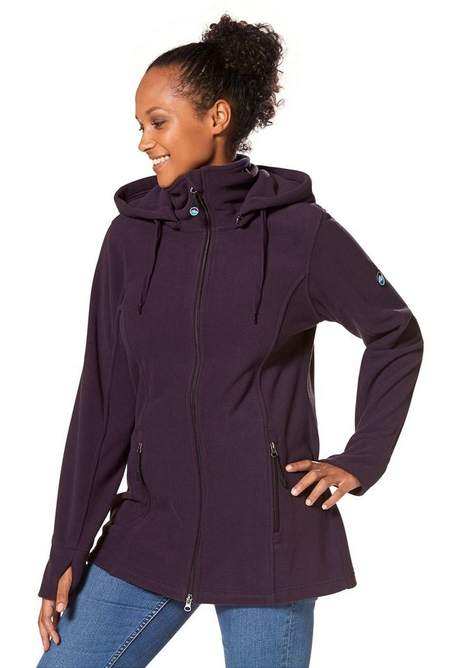 Polarino Fleecejacke in aubergine