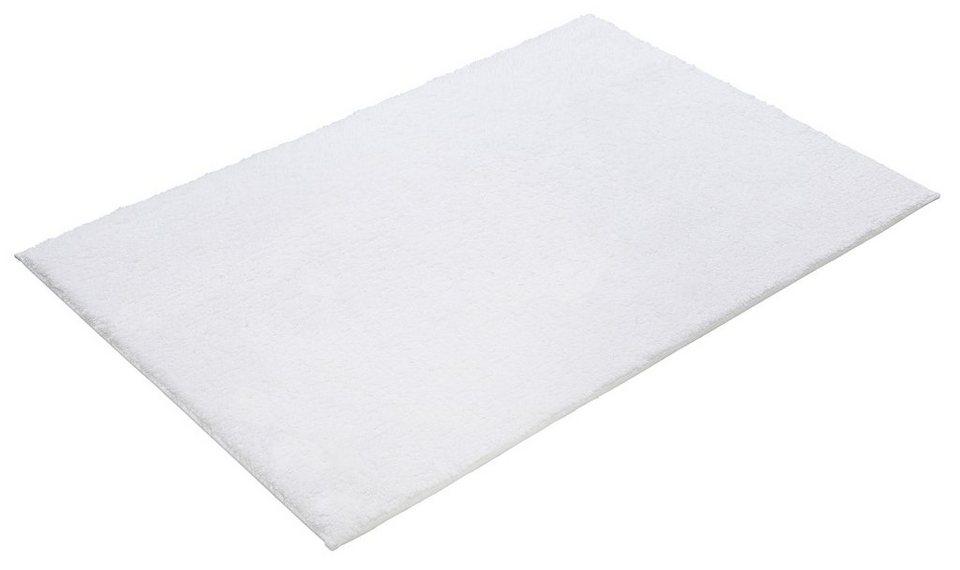 Badematte, Kleine Wolke, »Kansas«, Höhe ca. 17mm, Baumwolle, rutschhemmender Rücken in Weiß