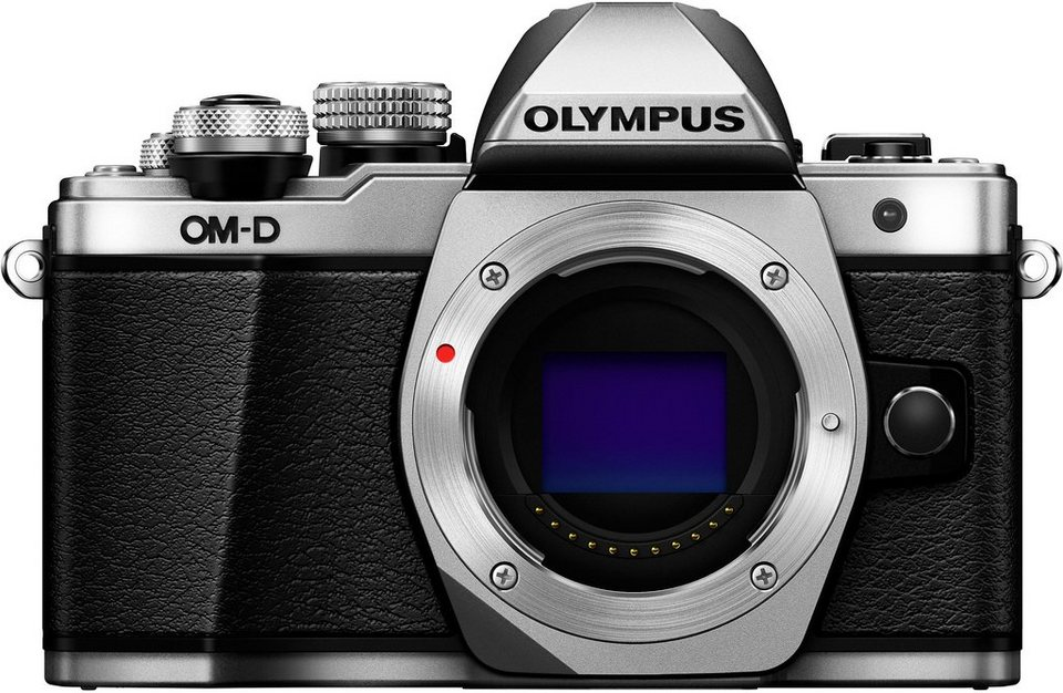 Olympus OM-D E-M10 Mark II Body System Kamera, 16,1 Megapixel, 7,6 cm (3,2 Zoll) Display in silberfarben