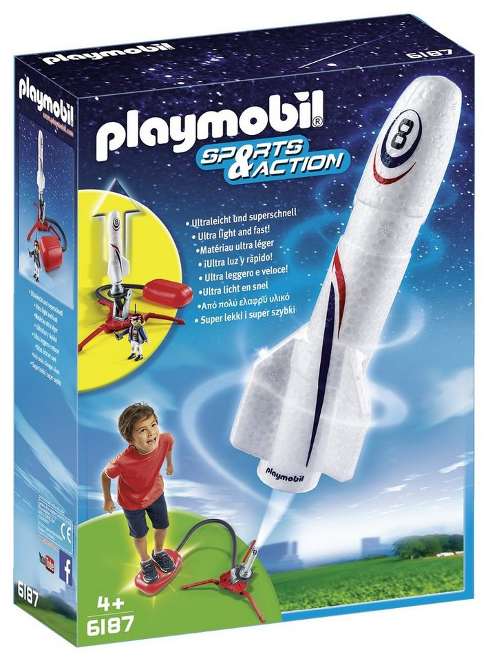Playmobil® Rakete mit Spring-Booster (6187), Sports & Action