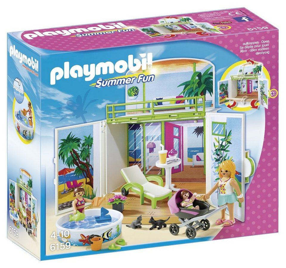 Playmobil® Aufklapp-Spiel-Box »Sonnenterrasse« (6159), Summer Fun