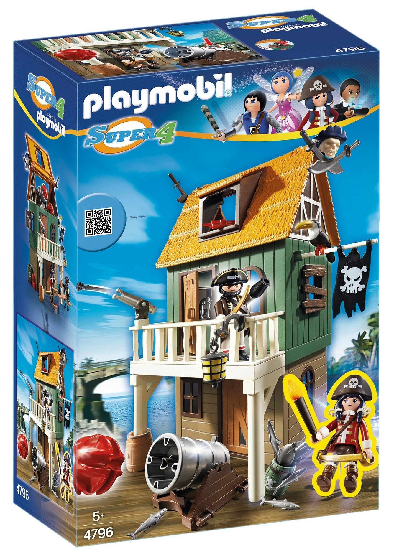 Playmobil® Getarnte Piratenfestung mit Ruby (4796), Super 4®
