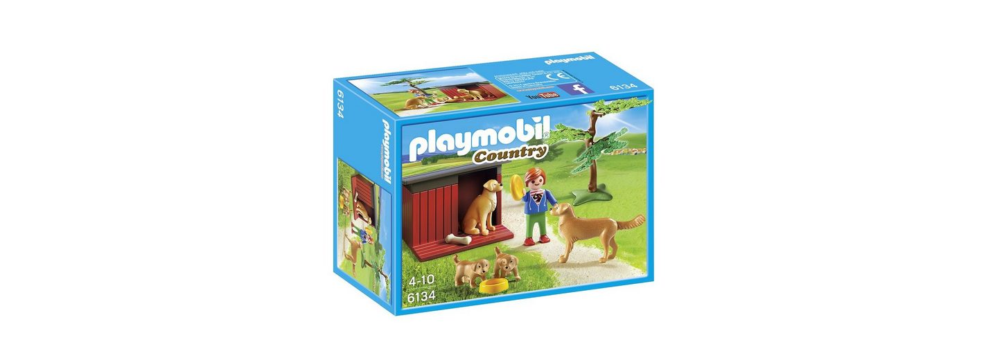 Playmobil® Golden Retriever mit Welpen (6134), Country