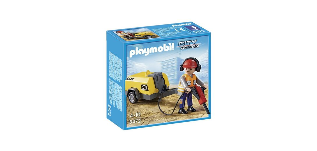 Playmobil® Bauarbeiter mit Presslufthammer (5472), City-Action