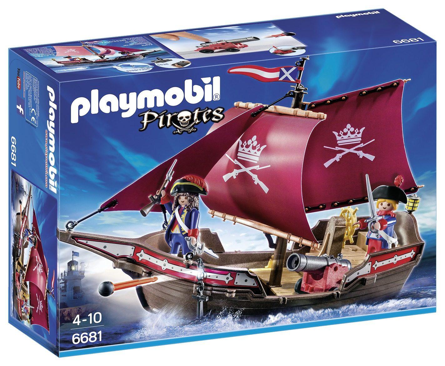 Playmobil® Soldaten-Kanonensegler (6681), Pirates
