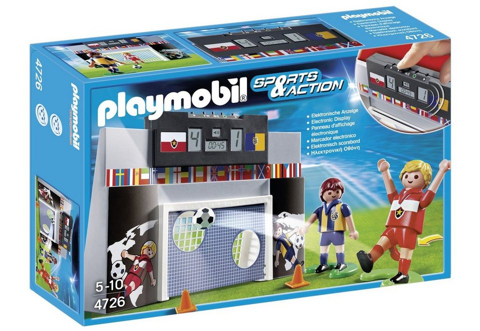 playmobil torwand mit multifunktions anzeige 4726 sports action online kaufen otto. Black Bedroom Furniture Sets. Home Design Ideas