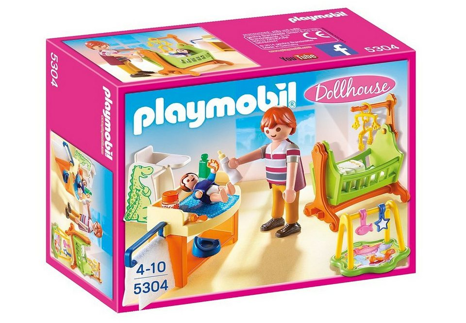 Playmobil® Babyzimmer mit Wiege (5304), Dollhouse in blau