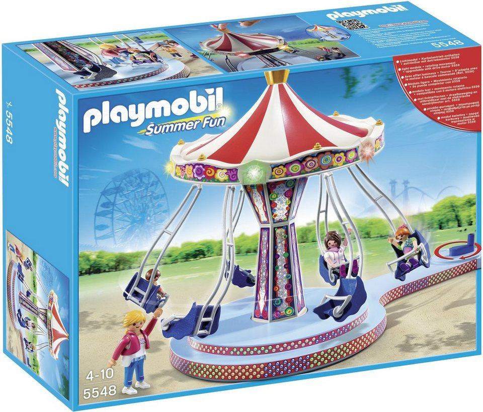 Playmobil® Kettenkarussell mit bunter Beleuchtung (5548), Summer Fun