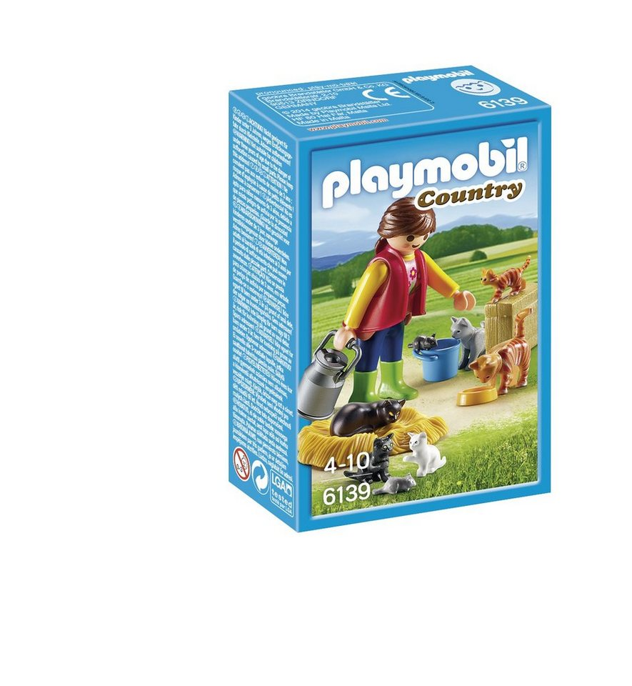 Playmobil® Bunte Katzenfamilie (6139), Country in braun