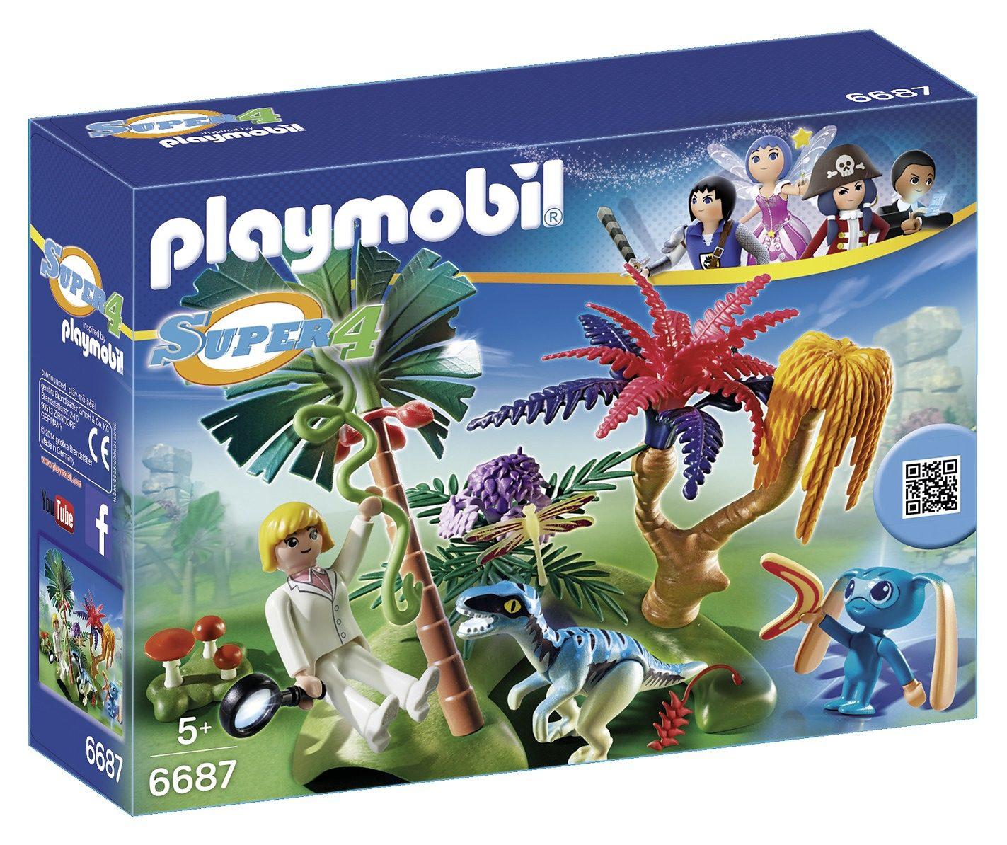 Playmobil® Lost Island mit Alien und Raptor (6687), Super 4®