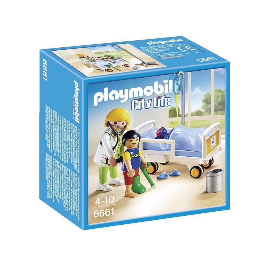 Playmobil® Ärztin am Kinderkrankenbett (6661), City Life